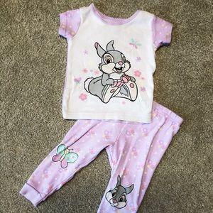 Disney Baby Girl 18 month Bambi Thumper Pajamas